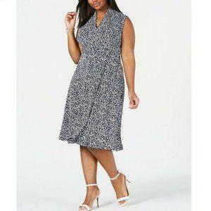 Jessica Howard 24W Blue Floral Dress RETAG BK84
